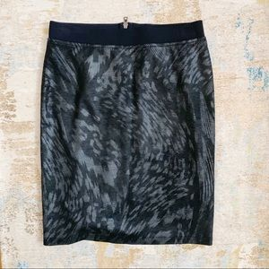 MarcCain Black Leopard Print Pencil Skirt …